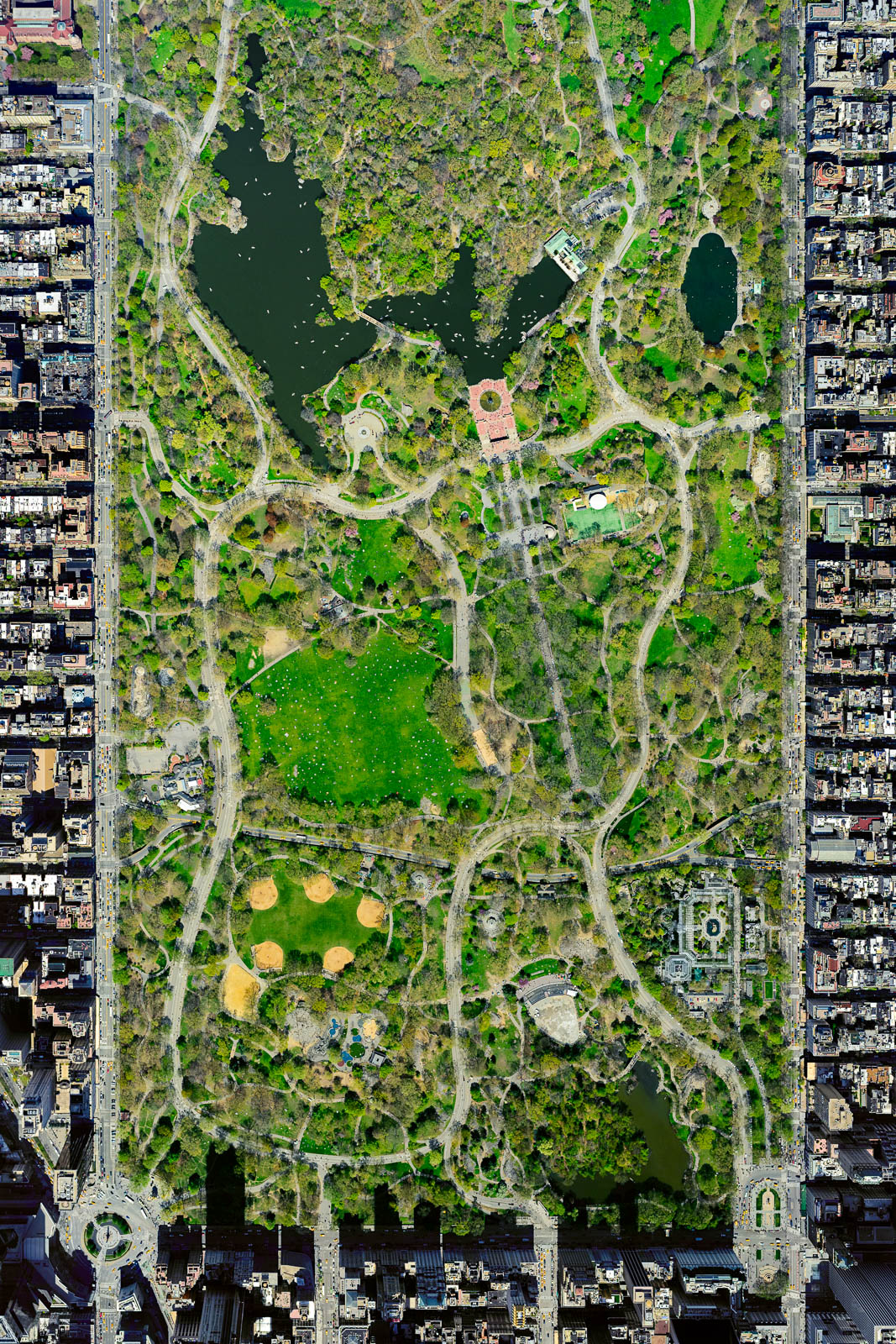 Central Park from 10,000 feet (Spring)