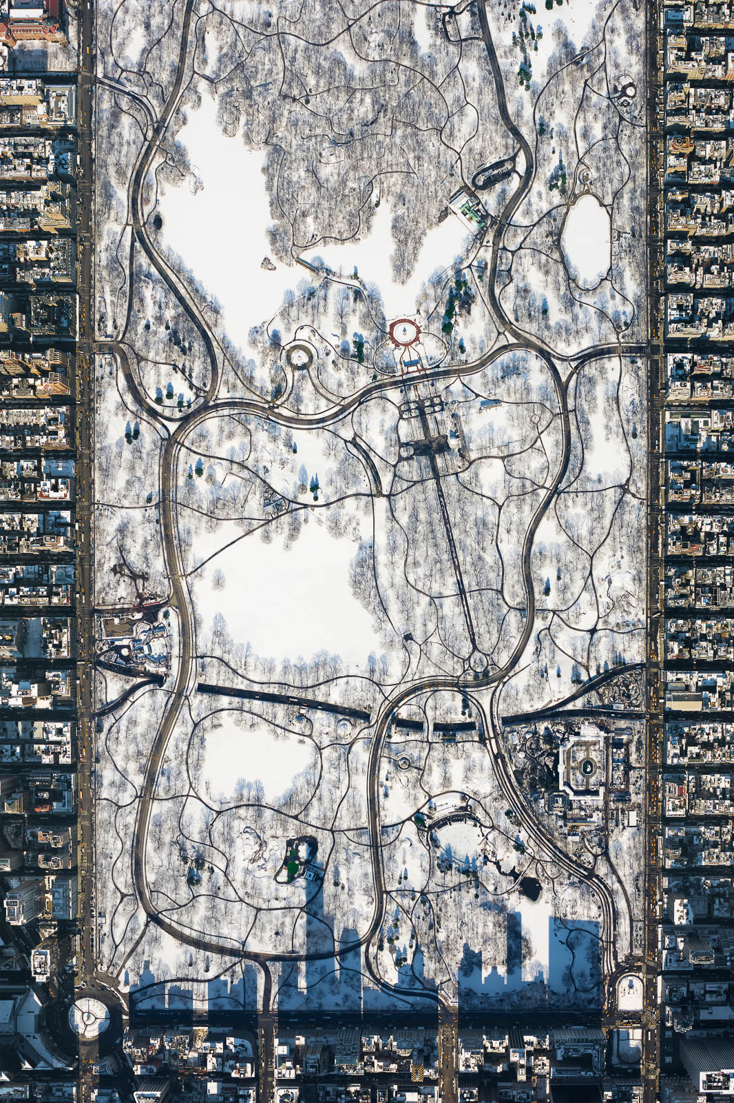 Central Park from 10,000 feet (Winter)