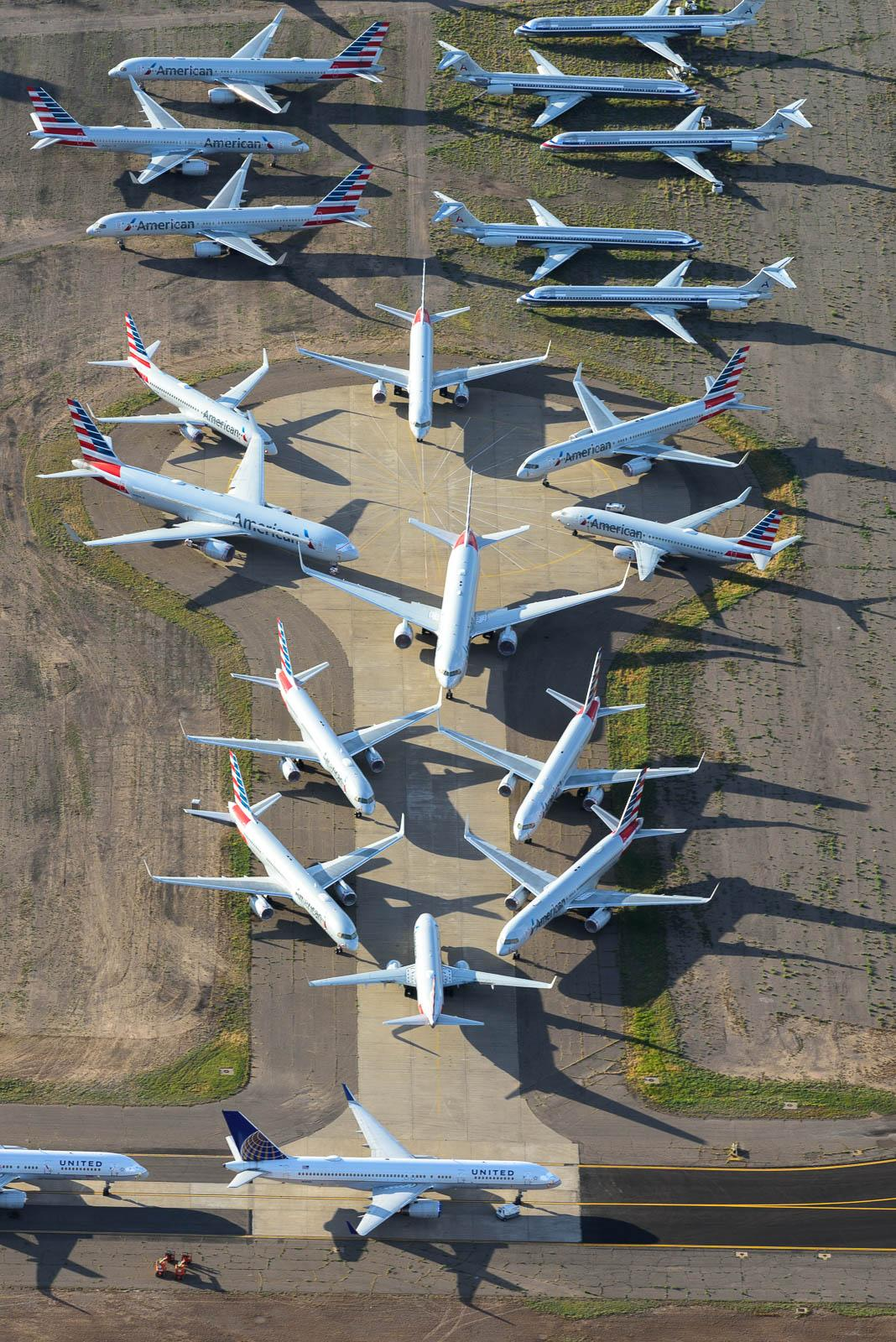 American Airlines parking at Roswell