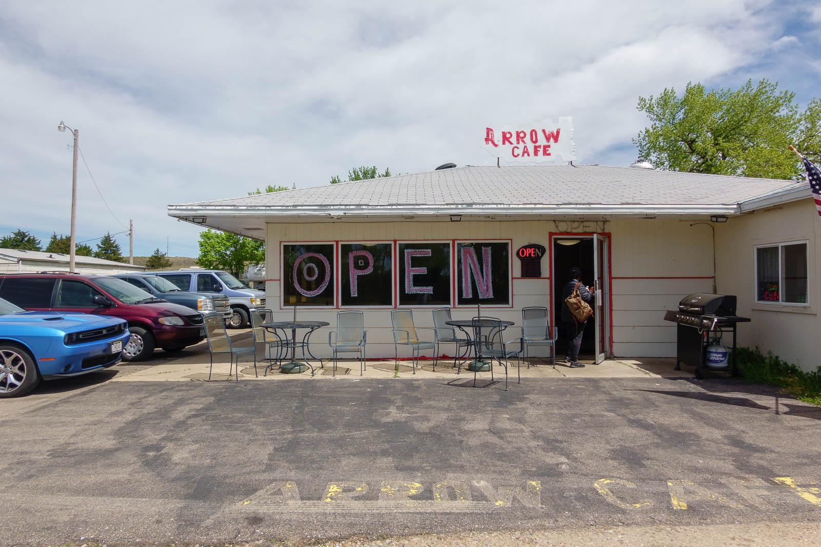 Arrow Cafe was open