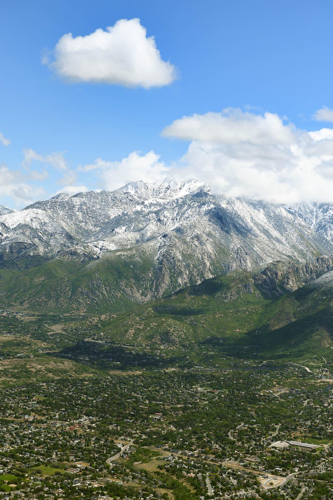 Snowy peaks near Salt Lake City