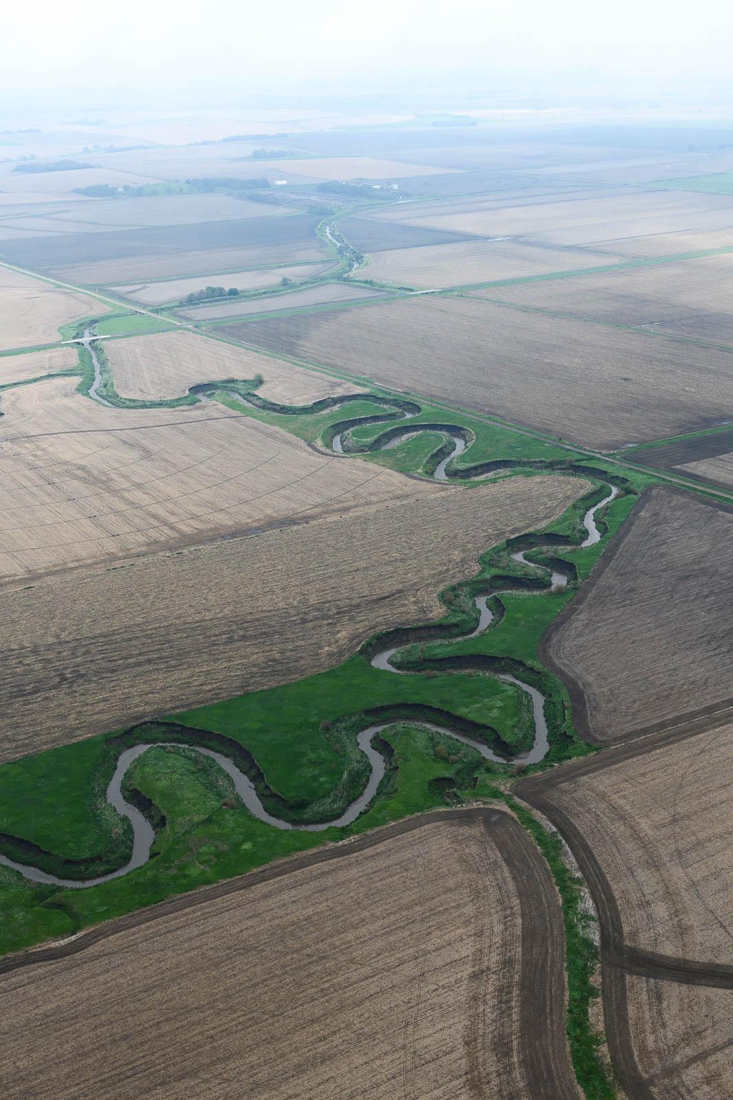 Meandering rivers of Wisner, Nebraska