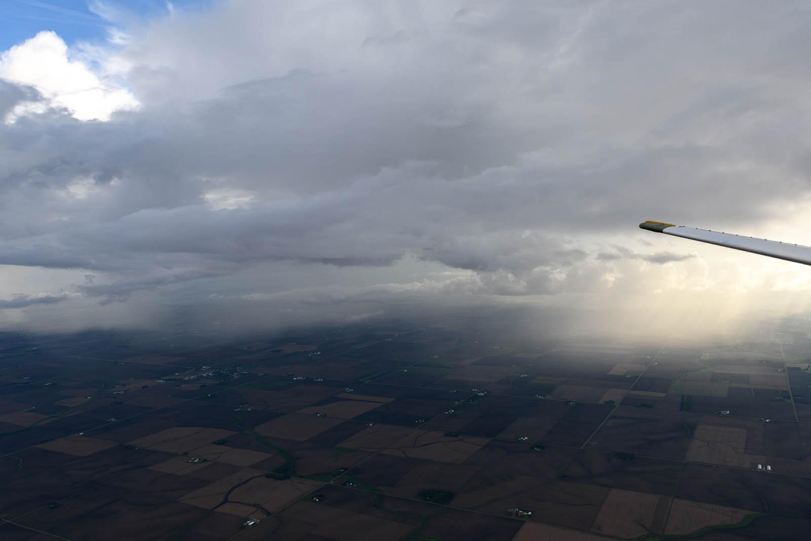 Flying around some storms