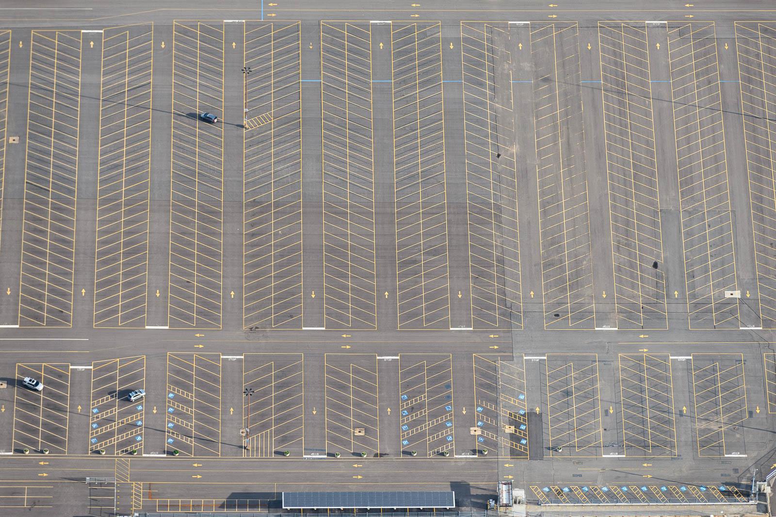 Empty parking lot near Sandusky, OH (May 28, 2020)