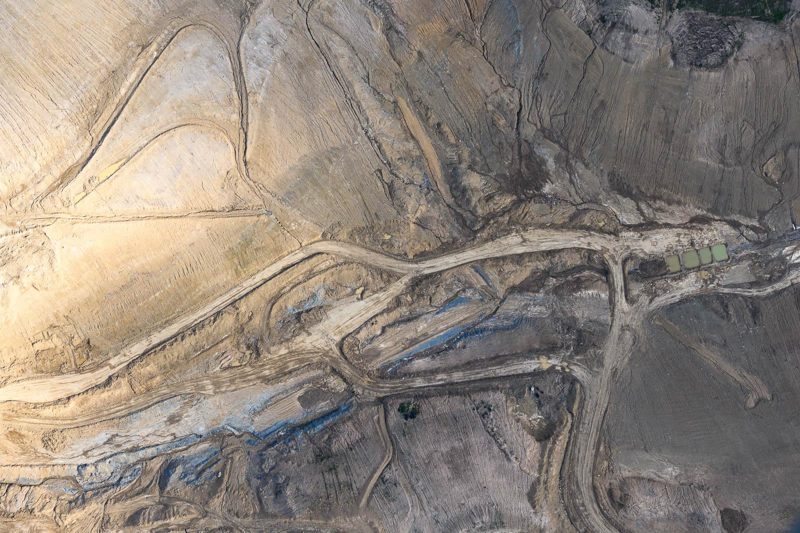 The excavation of coal
