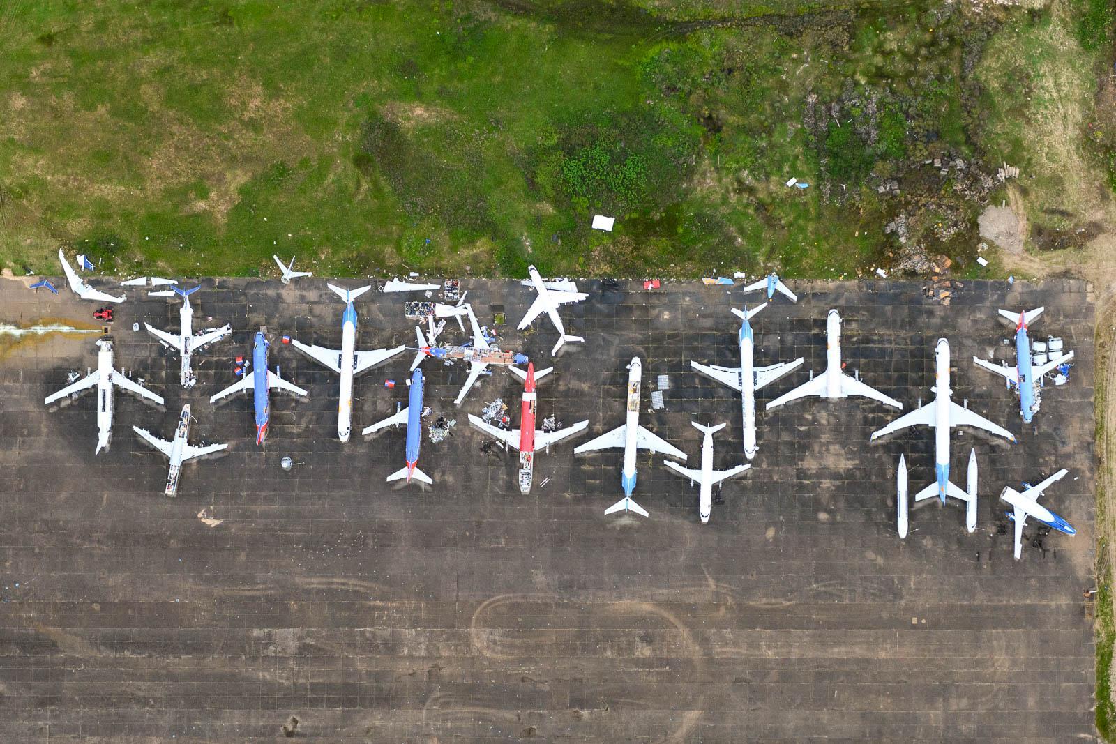 Airliner Storage & Disassembly at Stuttgart Airport in Arkansas