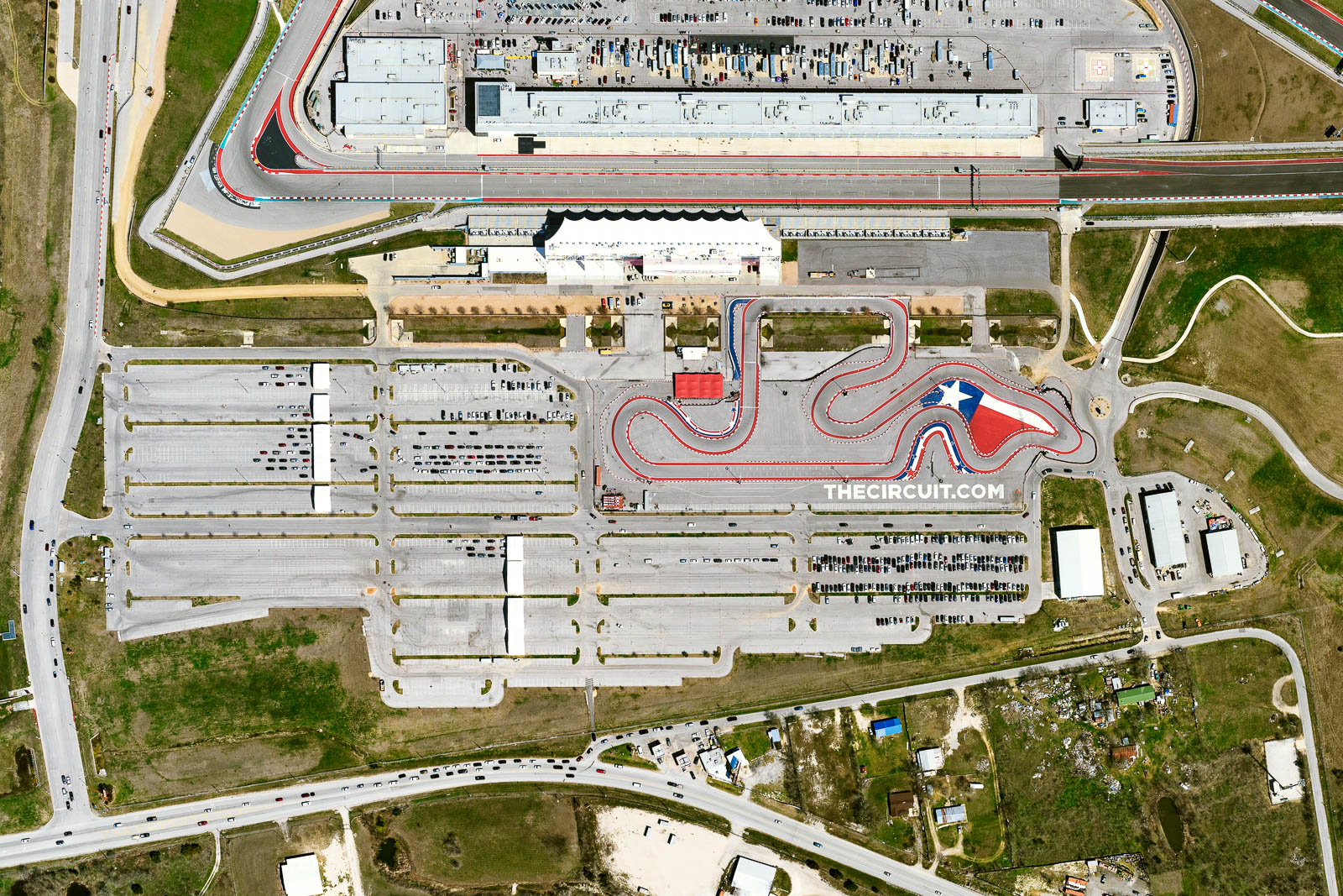 Austin's Circuit of the Americas Parking Lot A set-up as vaccination supersite