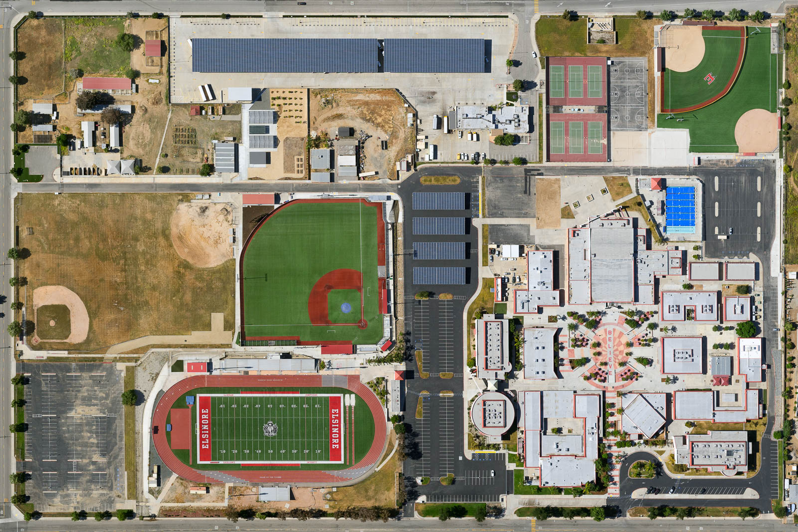 Elsinore High School in Wildomar, California remains closed since the beginning of the pandemic (May 2020)