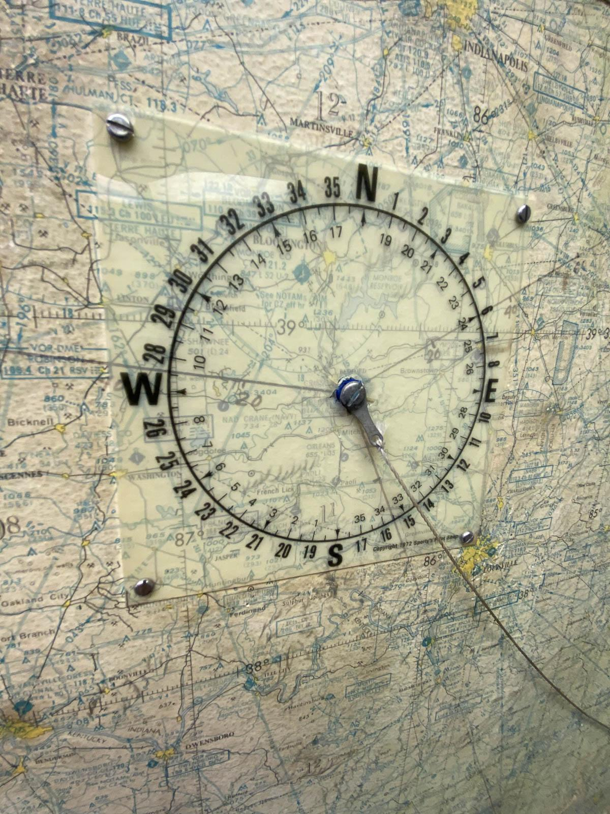 Compass rose for old-school flight planning