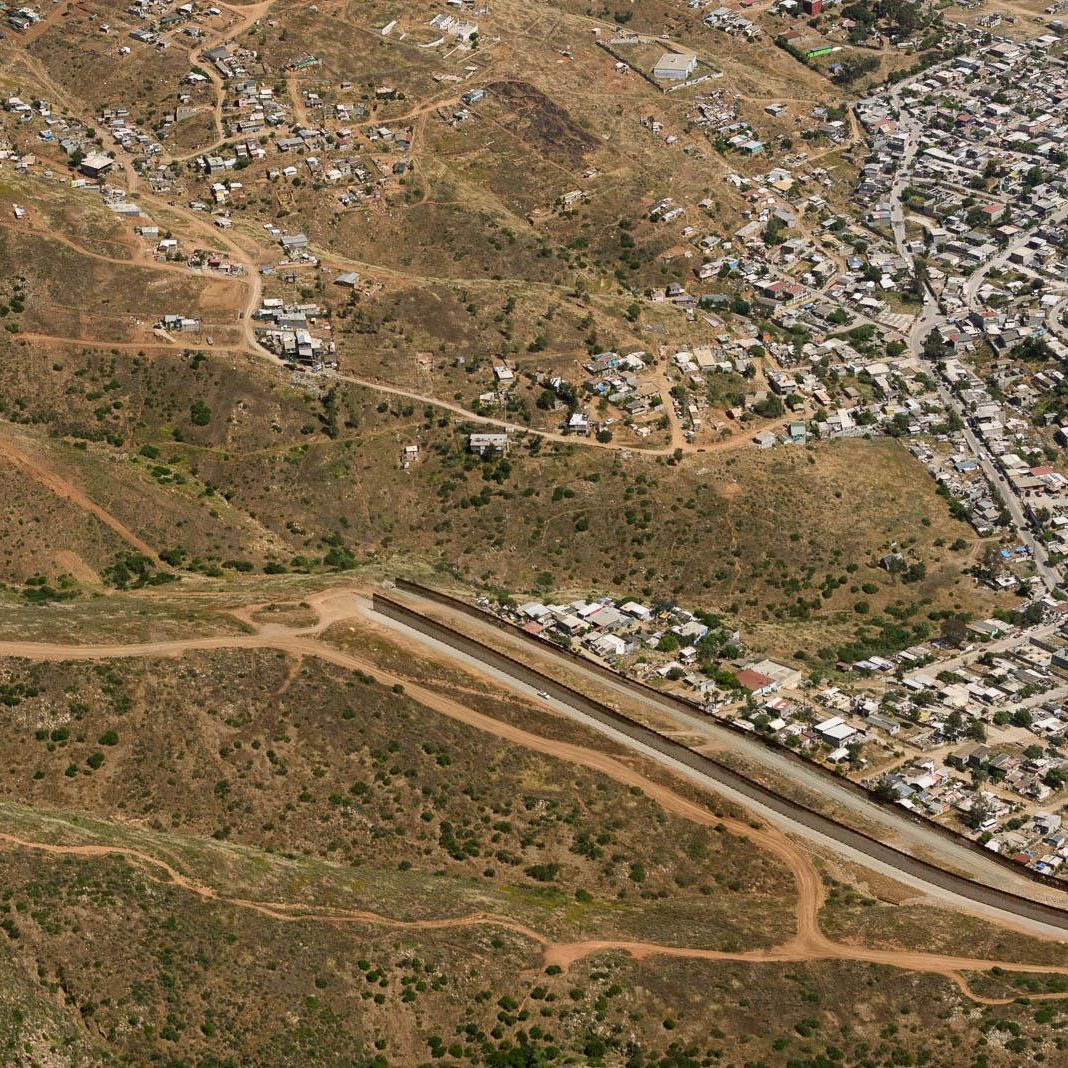 Border wall ends at Tijuana's outskirts