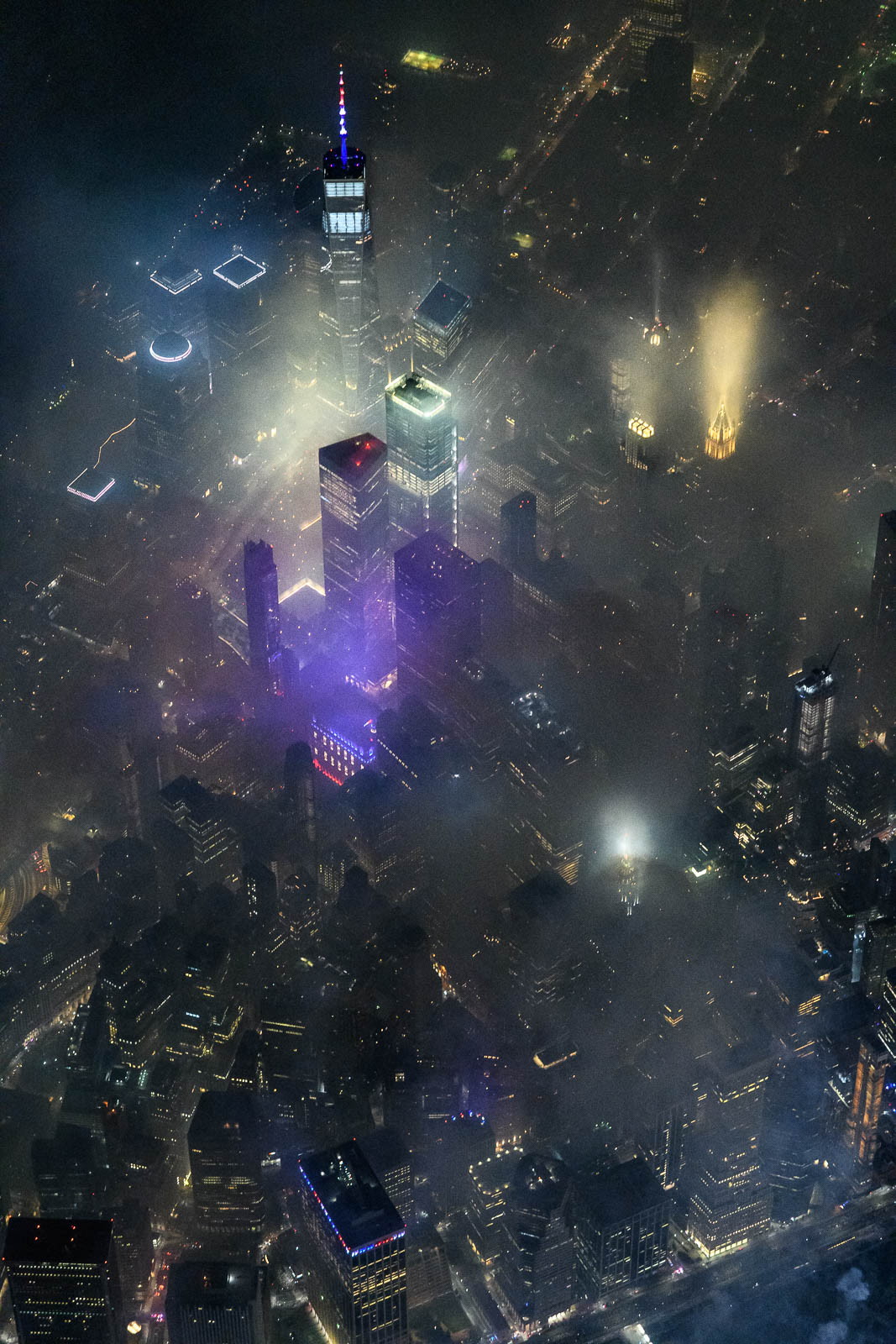 Smoky Downtown Manhattan